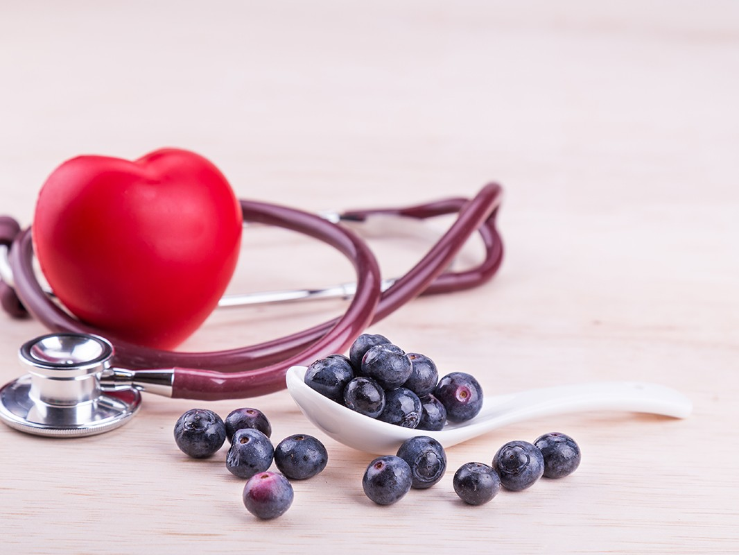 Blueberries rich in anti-oxidants and flavonoid anthocyanin has