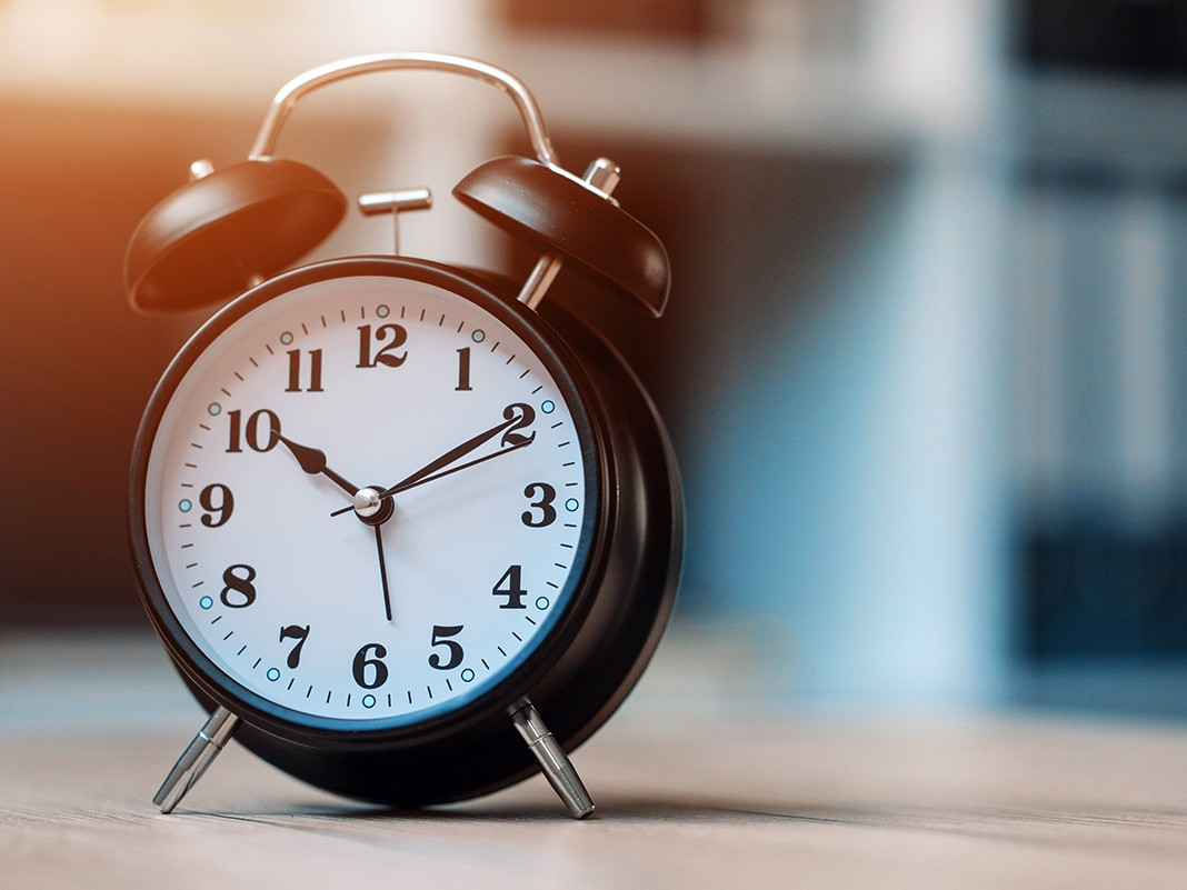 Vintage clock on office table