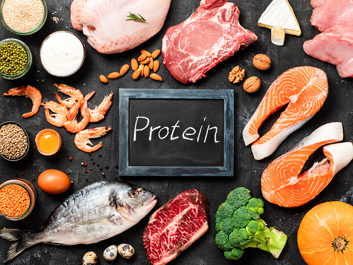 Protein sources concept, top view or flat lay