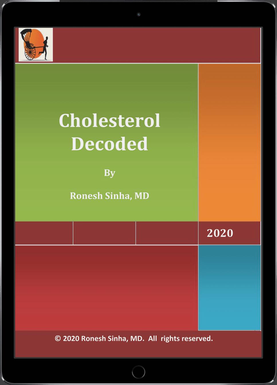 Cholesterol Decoded ebook on iPad